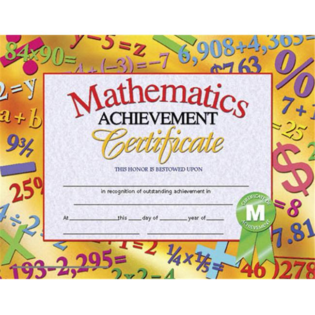 HAYES SCHOOL PUBLISHING H-VA681 CERTIFICATES MATHEMATICS ACHIEVE.