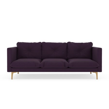 Loren Sofa Cross Weave Aubergine
