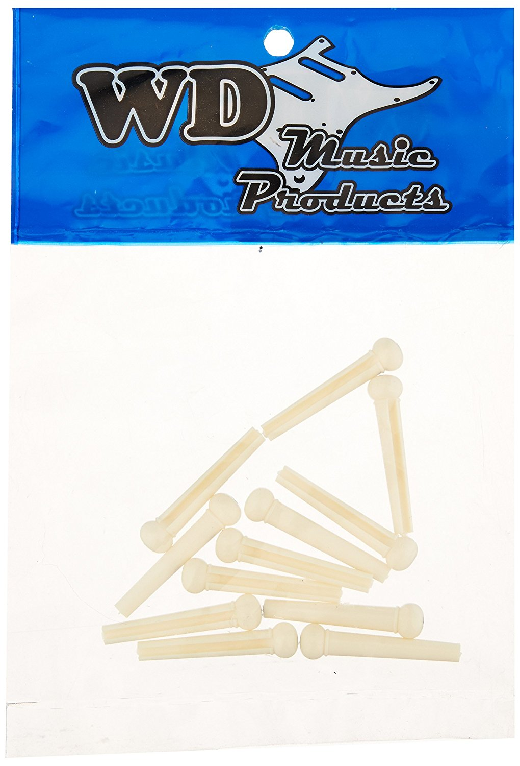 BPCDLX Deluxe Bridge Pins White Dot Bag Of 12, Bag of 12 By WD Music by