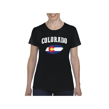 Colorado State Flag Women Shirts T-Shirt Tee Colorado State University Clothing