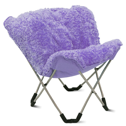 Attractive Mac At Home Junior Padded Butterfly Chair, Lavender Poodle