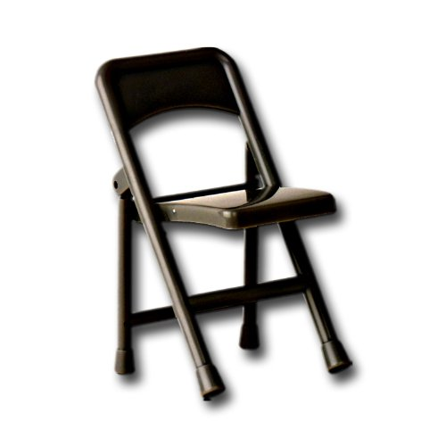 Black Plastic Toy Folding Chair for WWE Wrestling Action Figures