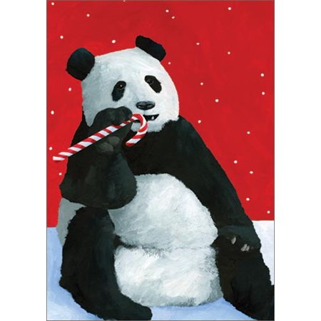 Allport Editions Panda Candy Cane Box of 15 Christmas Cards](Candy Canes For Sale)