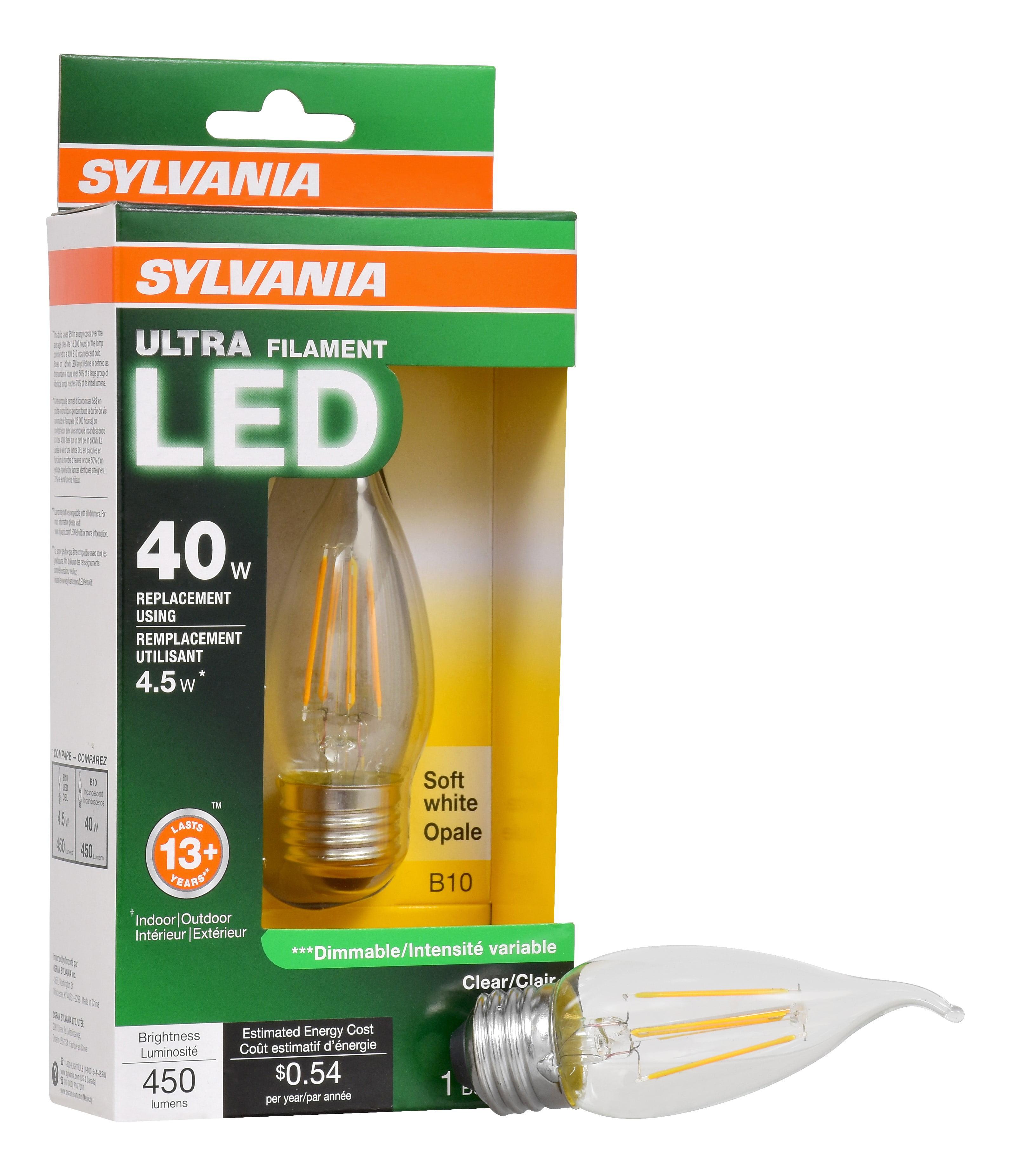 E12 Led Walmart: Sylvania Vintage LED Light Bulb, 40W Equivalent, B10