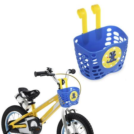 - Kid's Bike Basket, MINI-FACTORY Cute Dinosaur Pattern Bicycle Handlebar Basket for Boy - Blue Dinosaur