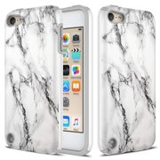 iPod Touch 6 Case, TownShop Impact Dual Layer Shockproof Silicone Bumper Case for Apple iPod Touch 6th / iPod Touch 5th - Marble
