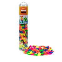 Plus-Plus - 240 Piece Neon Color Mix Building Set Play Tube