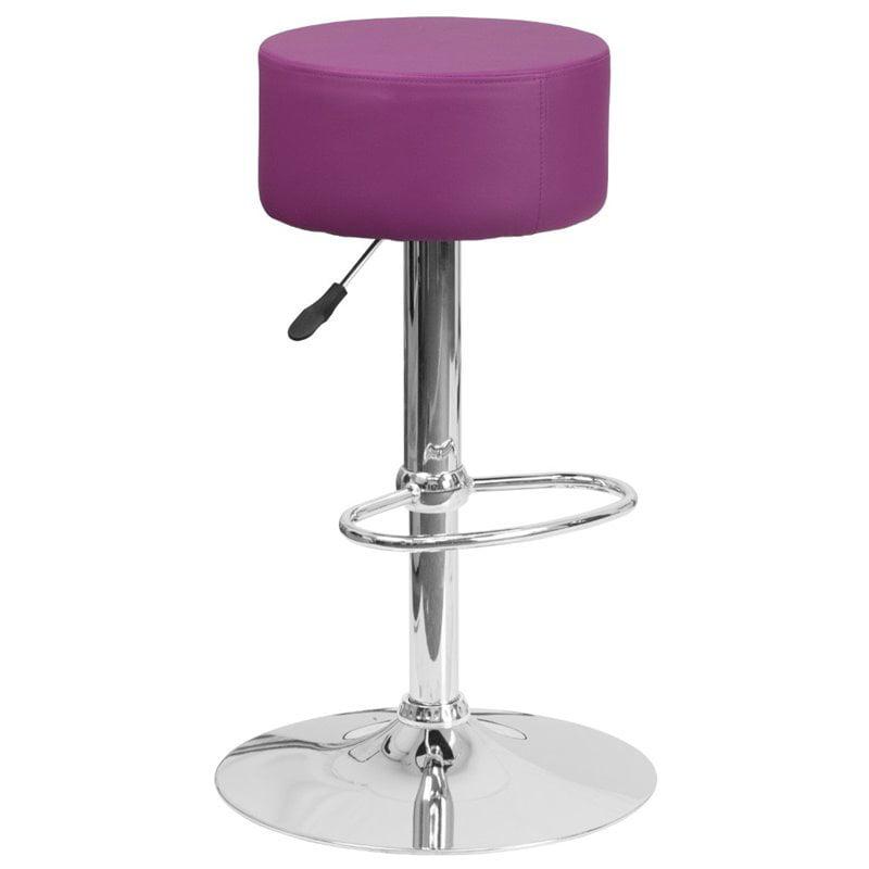 Flash Furniture Faux Leather Adjustable Bar Stool in Purple - image 9 de 9