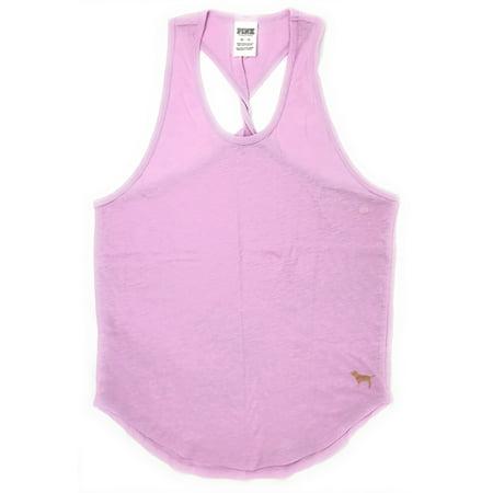 Twist Back Tank (Victoria's Secret PINK Twist Back Tank Medium Misty Lilac)