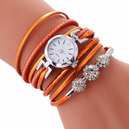 Outtop Ladies Bracelet Diamond Circle Watch Student Fashion