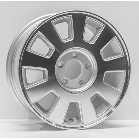 """2003-2005 Mercury Grand Marquis Replacement Wheel 16"""" X 7"""" 9 Spoke, Silver Machined"""