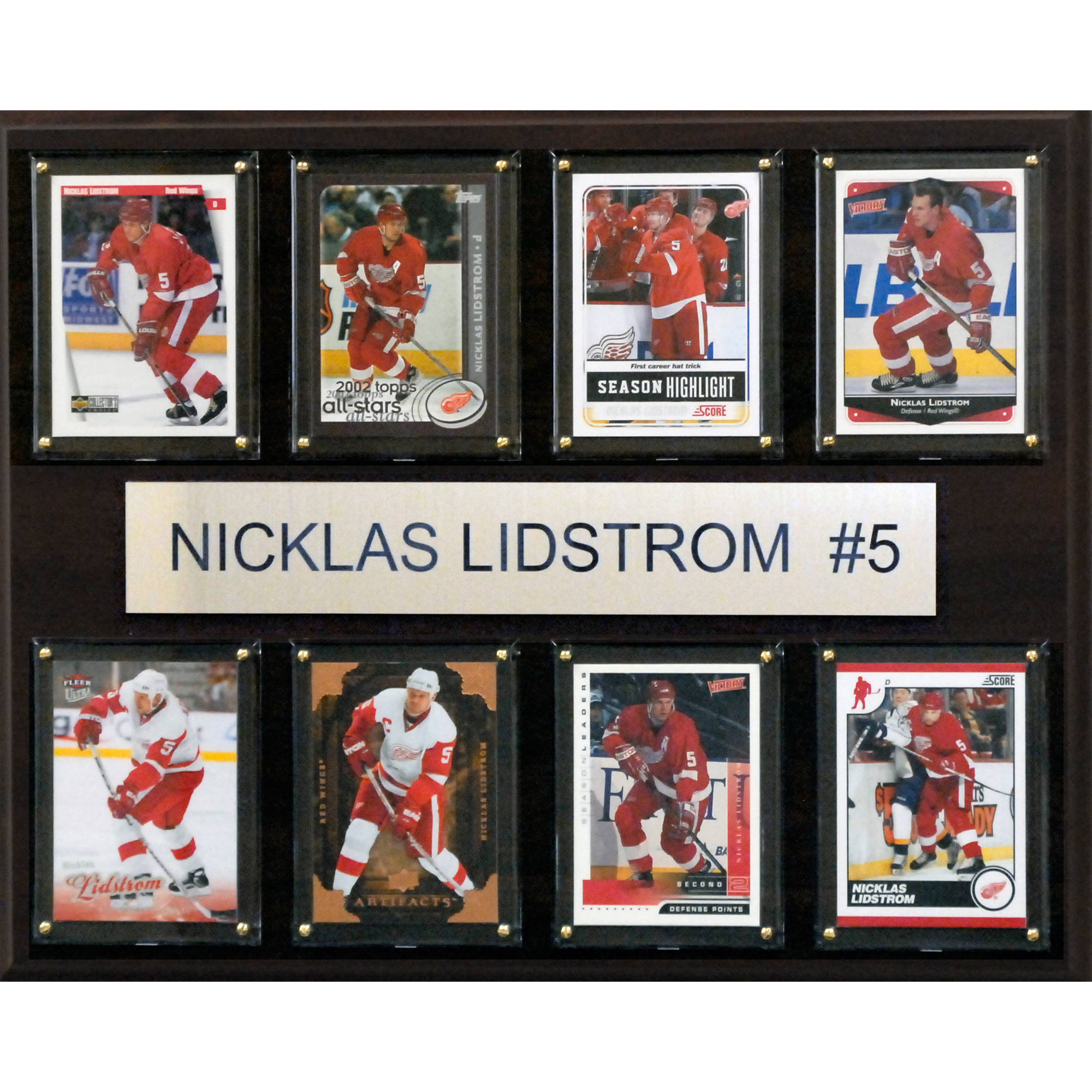 C&I Collectables NHL 12x15 Nicklas Lidstrom Detroit Red Wings 8-Card Plaque