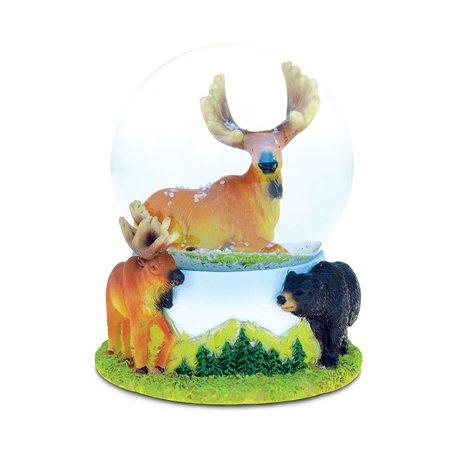 Snow Globe Moose (65MM) - Birthday Snow Globes