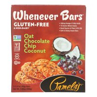 Pamela's Products Oat Chocolate Chip Whenever Bars - Coconut - Case of 6 - 1.41 oz.