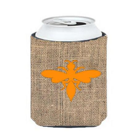 Wasp Burlap And Orange Can Or Bottle  Hugger - image 1 de 1