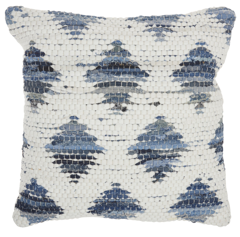 Nourison Life Styles Woven Diamonds Denim Decorative Throw Pillow 20 X20 Walmart Com Walmart Com