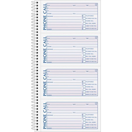TOPS, TOP4003, Carbonless Phone Message Book, 1 / Each, - Telephone Message Pad