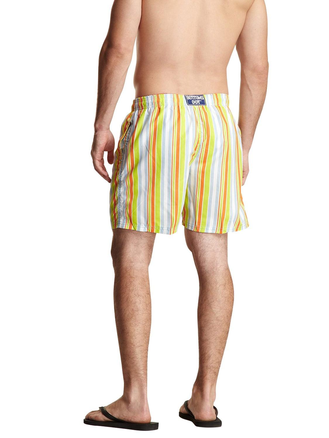 Mens Cute Dog Paw Print Style Beach Shorts Casual Drawstring Adjustable Swim Short