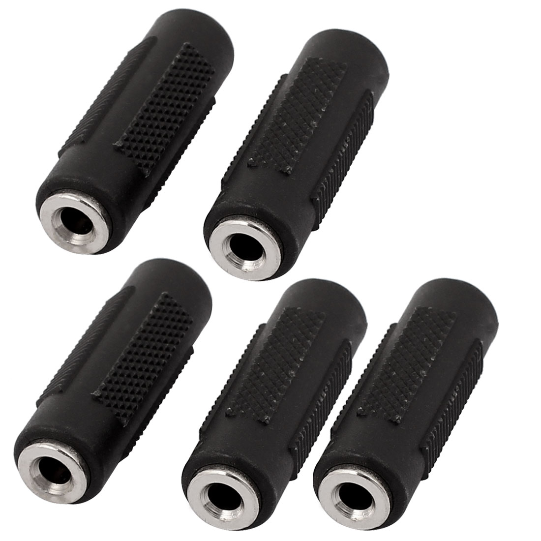 3.5mm Female to Female F/F Audio Stereo Adapter Connector Coupler Extension 5Pcs