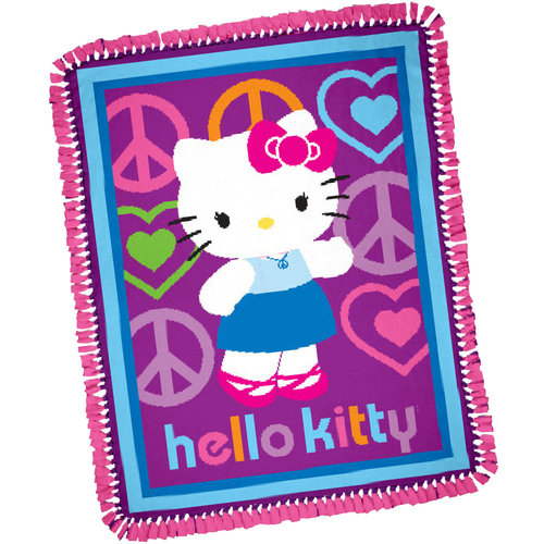 Springs Creative Hello Kitty Peace and Love Throw Kit