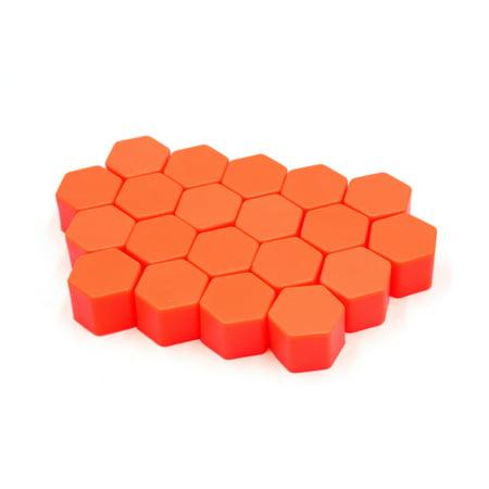 20Pcs 17mm Orange Luminous Car Wheel Lug Nut Bolt Hub Screw Cover Protective Cap - image 2 of 2