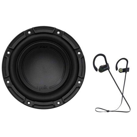"Polk Audio DB842DVC 8"" 750 Watt Car/Marine Boat Audio Subwoofer Sub+ Earbuds (Polk Audio Subs)"