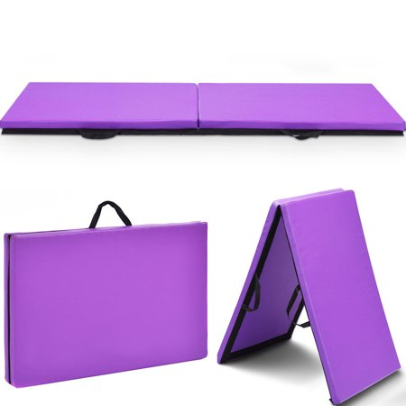 Costway 6'x 2'Gymnastics Mat Thick Two Folding Panel Gym Fitness Exercise