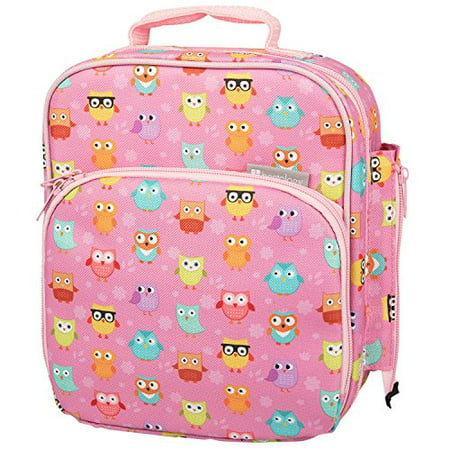 Insulated Durable Lunch Bag - Reusable Meal Tote With Handle and Pockets - Owl - Owl Tote