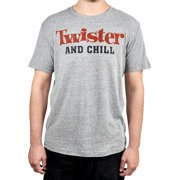 Twister and Chill Graphic T-Shirt Game Logo Heather Gray (Men's)