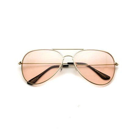 WearMe Pro - Classic Aviator Style Metal Frame Sunglasses Colored Lens