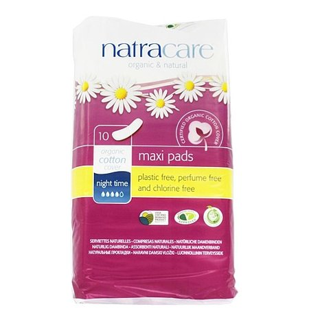Natracare Organic Maternity Pads Natural - Natracare Natural Organic Pads, 10 Ct