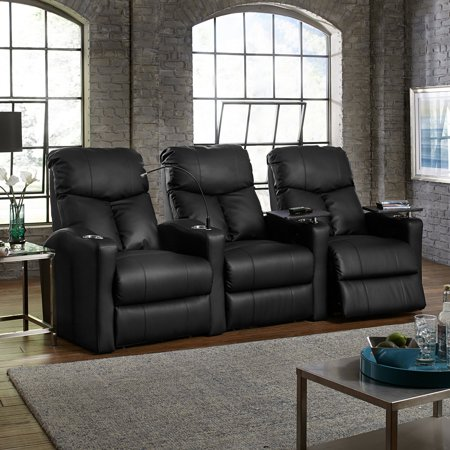 Octane Bolt XS400 3 Seater Manual Recline Bonded Leather Home Theater