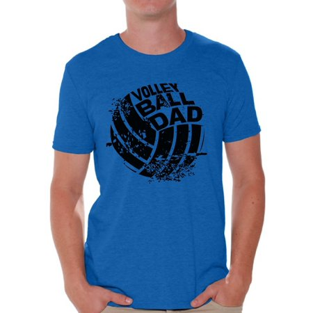 Volleyball Dad T-shirt (Awkward Styles Men's Volleyball Dad Graphic T-shirt Tops Black Team Sport Volleyball Father's Day)