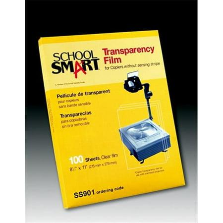 Overhead Copier Transparency Film - School Smart 079881 Copier Film With Removable Sensing Strip, Pack- 100, Transparency