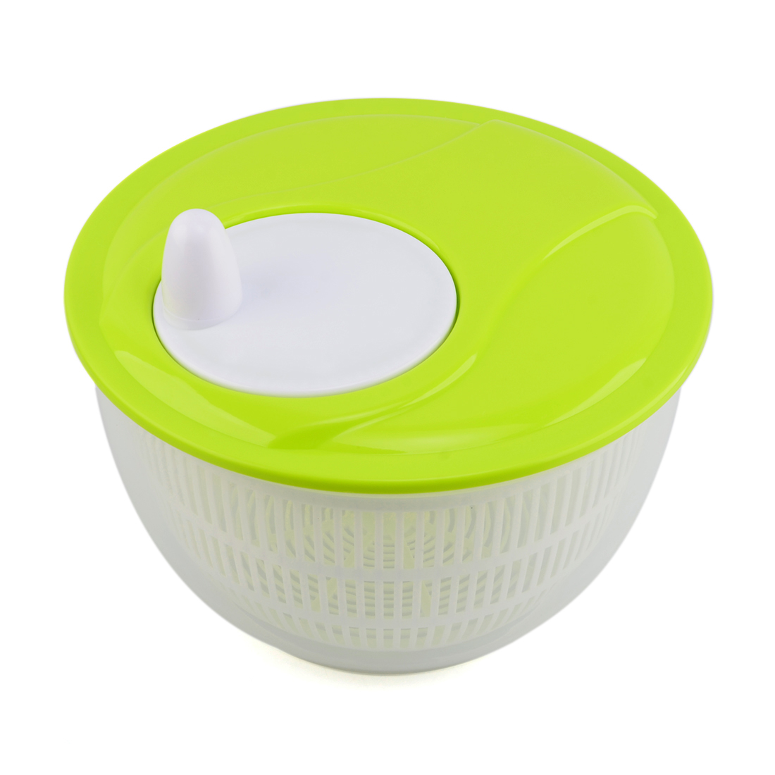 Easy Hand Spin Salad Spinner Vegetable and Fruit Dryer Multifunction Kitchen Tool Lid Color Random by