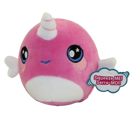 License 2 Play - Squeezamals Scented Plush S2 - NARCISSA the Narwhal (Small - 3.5 inch)