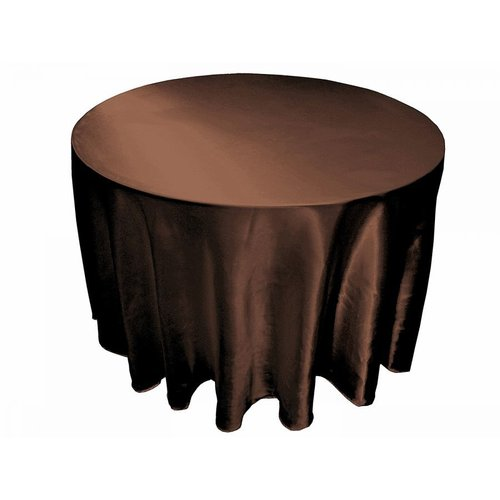 120-in Round Satin Tablecloth