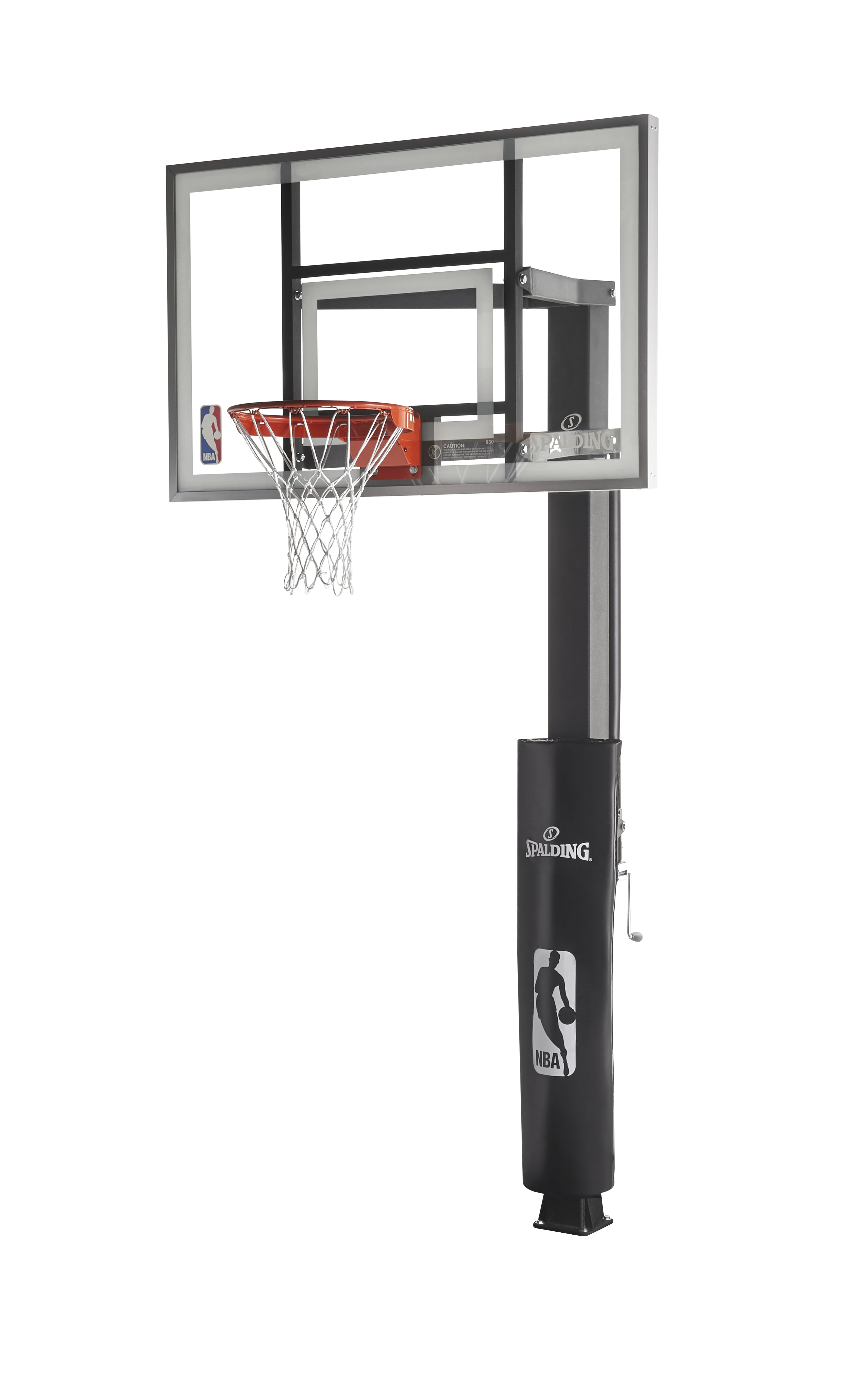 """Spalding 88830G 60"""" Performance Glass In-Ground Basketball System by Spalding"""