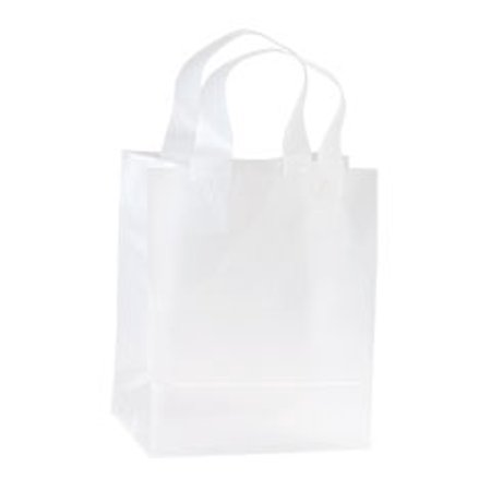 Clear Frosted Plastic Shopping Bags -  8