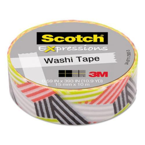 "3m C314P7 Expressions Washi Tape, .59"" X 393"", Wrapped"