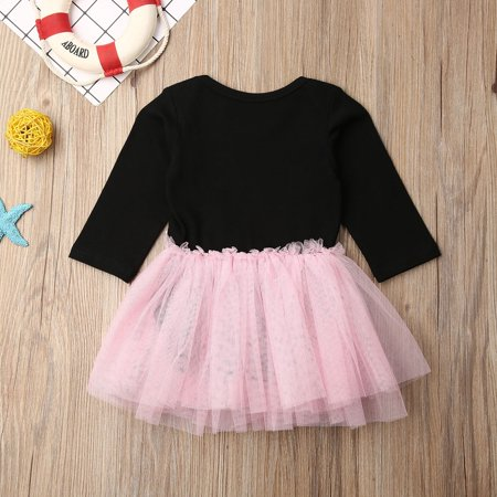 Newborn Infant Baby Girl Bowknot Dress Lace Tulle Party Bridesmaid Pageant Dress - image 5 of 5