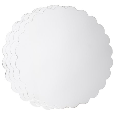 Wilton 14-Inch Round Cake Boards, Silver, 4-Count