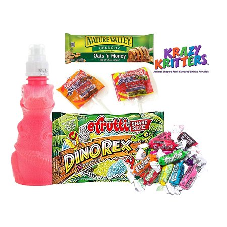 Krazy Kritter Dino Melon Flavored Vitamin Juice with Snacks. Perfect for the T-Ball, Baseball, Soccer Team. Camping Snacks, Party Favors](Dinosaur Snack Ideas)