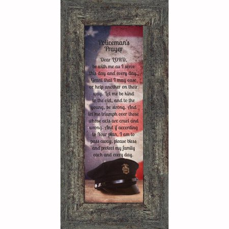 Policeman's Prayer, Picture Frame Gifts Men Police Officer, Gifts Cops, 6x12 7365 - Walmart.com