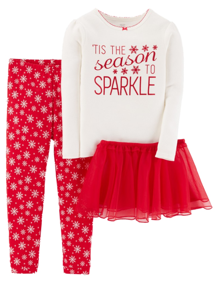 Infant & Toddler Girls The Season to Sparkle Pajamas Holiday Tutu Sleep Set