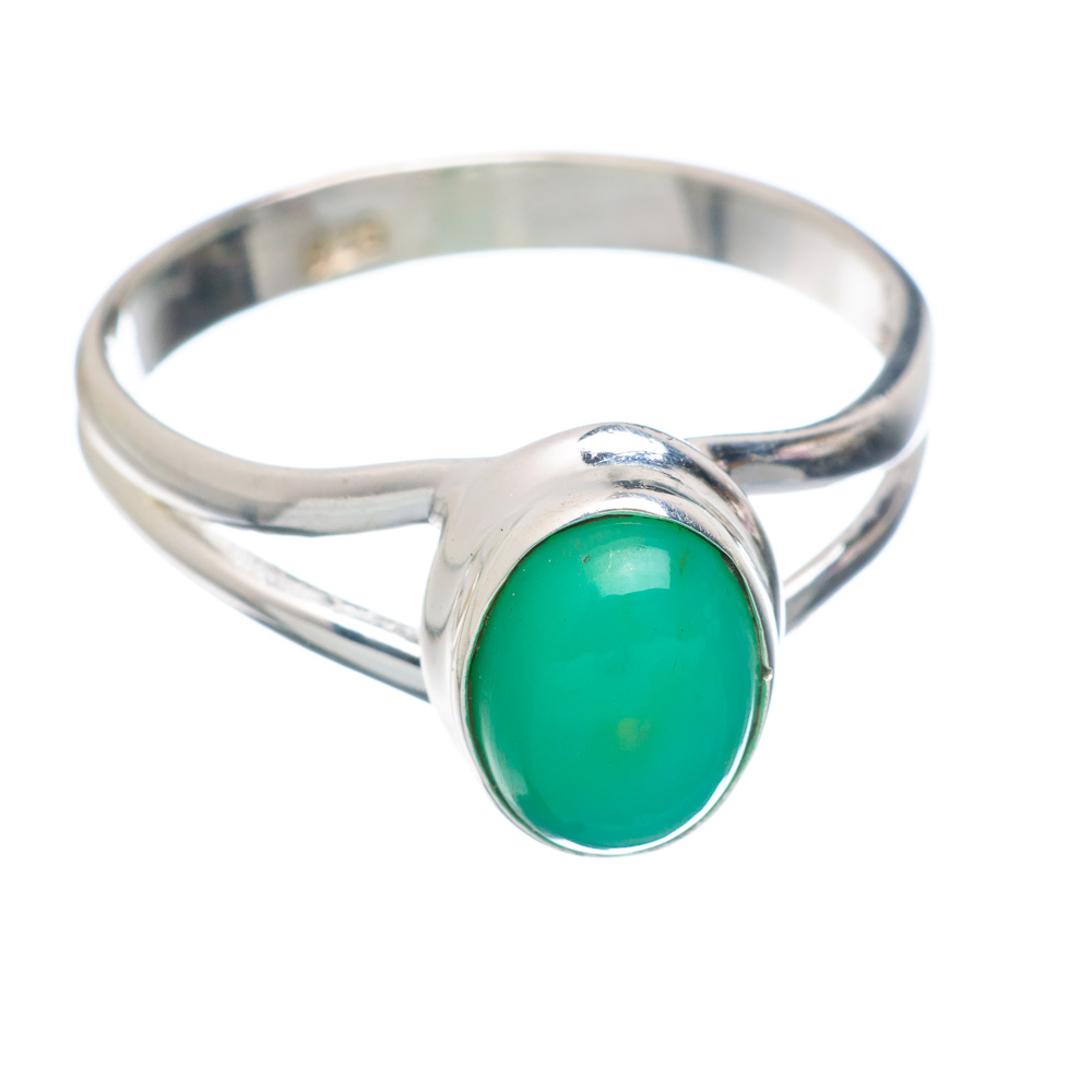 Ana Silver Co Chrysoprase Ring Size 7.25 (925 Sterling Silver) Handmade Jewelry RING856314 by Ana Silver Co.