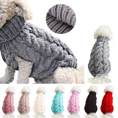 Small Dog Sweater , Warm Pet Sweater, Cute Knitted Classic Dog Coat Jacket Clothes, S-XL Cute Dog Clothing