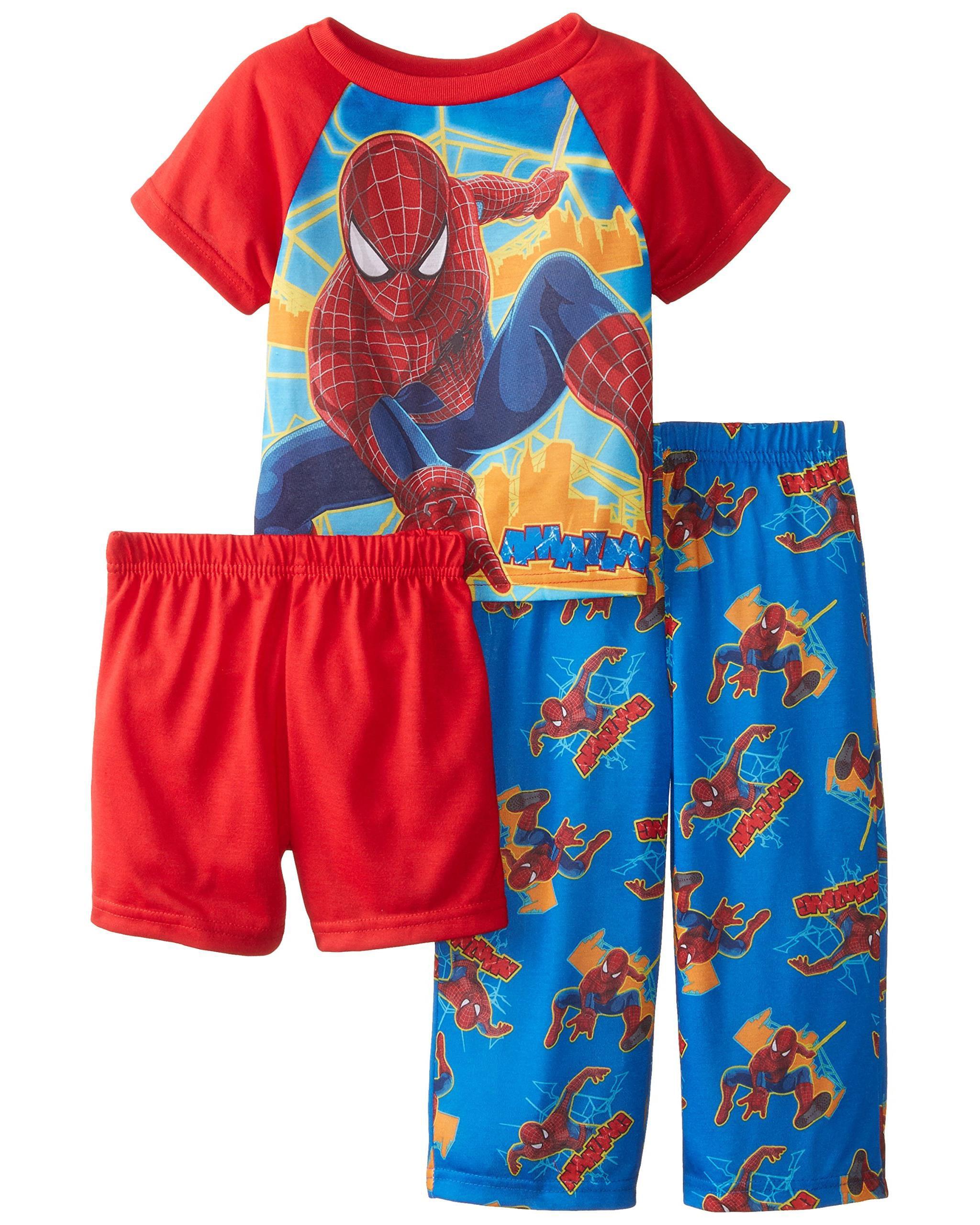 Marvel Little Boys' The Amazing Spiderman Attack 3 Piece Pajama Set