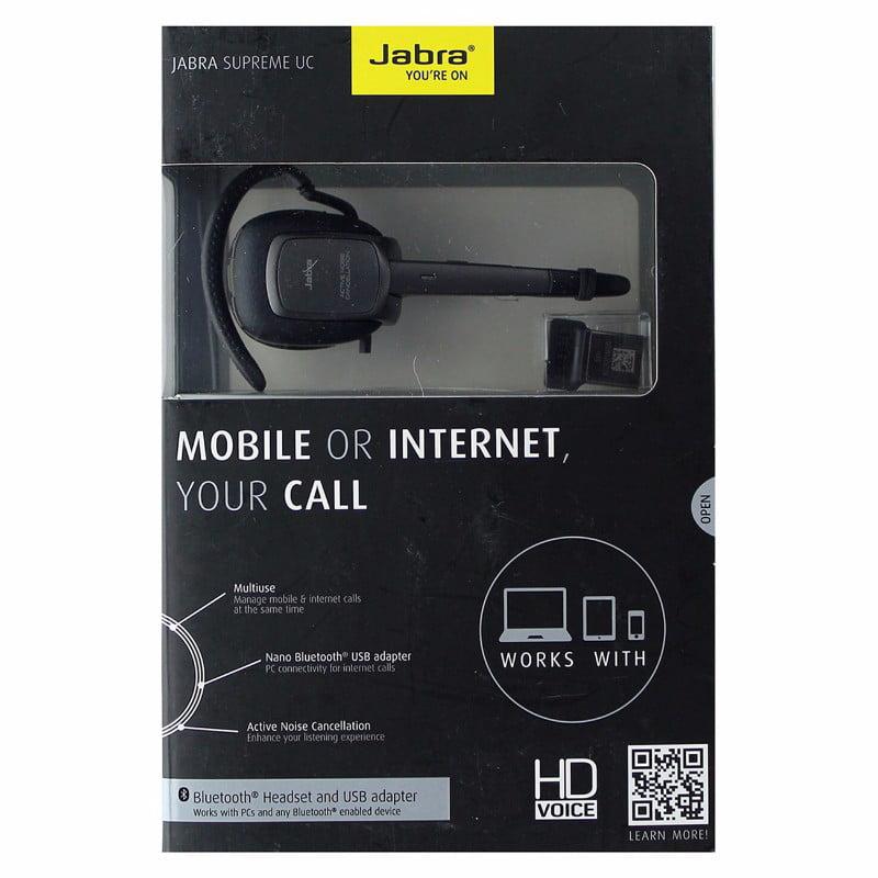 Jabra Supreme Uc Bluetooth Headset And Usb Adapter Black Refurbished Walmart Com Walmart Com