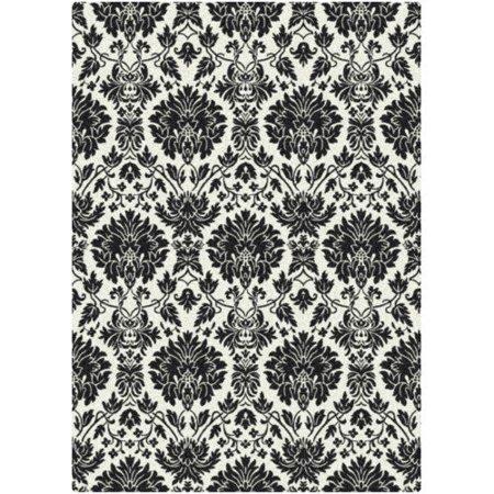 milliken manor uptownblack white area rug